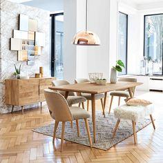 Table de salle à manger en manguier massif L 175 cm Trocadero | Maisons du Monde