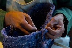 Woven Indigo Baskets from Small Trade Co.
