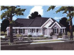 Country Style 1 story 3 bedrooms(s) House Plan with 1611 total square feet and 2 Full Bathroom(s) from Dream Home Source House Plans
