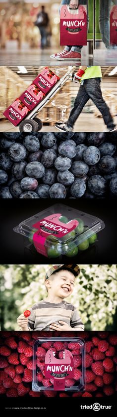 Brand & packaging design for Munch'n Berries.