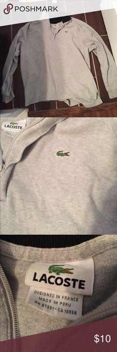 Lacoste grey half zip sweater Lacoste grey half zip sweater Lacoste Sweaters Zip Up
