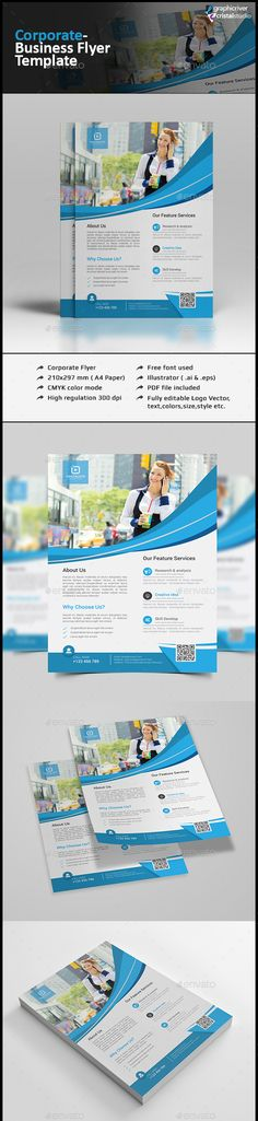 Corporate Flyer Template PSD #design Download: http://graphicriver.net/item/corporate-flyer/13510618?ref=ksioks