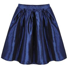 Party Metallic A-Line Pleated High Waist Stretch Clubwear Mini Skirt ($24) ❤ liked on Polyvore featuring skirts, mini skirts, metallic pleated skirt, blue mini skirt, blue pleated mini skirt, pleated mini skirt and blue skirt