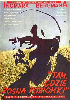 Wild Strawberries (Pol Film, Polish One Sheet X Artwork is by Eugeniusz Skorwider.