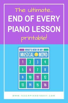 "What are ""Exit Tickets"" For your piano studio? And how can you use them to increase parent and student satisfaction and word-of-mouth? FREE Printable here!"