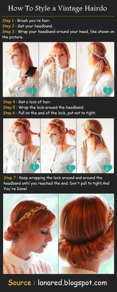 Vintage Hairdo Tutorial | Beauty Tutorials