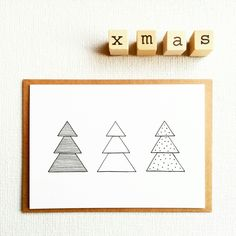 My christmas cards collection: minimalistic, graphic and simple! #sweetandmellow