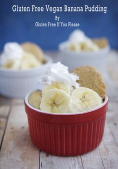 Gluten Free Vegan Banana Pudding via @gfifyouplease/ / #glutenfree #vegan #banana #recipe