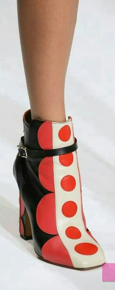 Valentino's Polka-Dot Booties   SS 2014   cynthia reccord  Entirely too funky for me, but I love them!