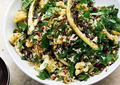 Yotam Ottolenghi: Cauliflower, pomegranate and pistachio salad Yotam Ottolenghi, Ottolenghi Recipes, Vegetarian Recipes, Cooking Recipes, Healthy Recipes, Uk Recipes, Weeknight Recipes, Cooking Food, Lunch Recipes