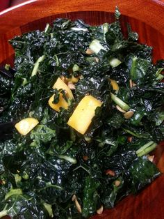 Best salad ever. Kale (plus the secret to making tough kale softer), mango and a sweet and spicy dressing. So good. And good for you!