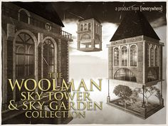 503c7dee6bf6 Second Life Marketplace - WOOLMAN SKY-TOWER   SKY-GARDEN COLLECTION  victorian industrial steampunk style skybox with garden