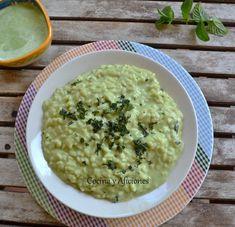 Risotto verde a la menta, receta paso a paso. Para realizar este plato es necesario preparar dos elaboraciones, por un lado un risotto al más puro y tradicional estilo, con la receta de siempre pero le vamos a dar un toque, en lugar de vino blanco vamos a utilizar vermú blanco seco que nos dará a nuestro arroz un punto increíble, esta para chuparse los dedos... http://wp.me/p1smUs-bK3