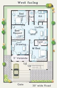 Smart Inspiration West Face Duplex House Plans Hyderabad 3 Facing Per Vastu West Inspiring Home 2bhk House Plan, Free House Plans, Model House Plan, Duplex House Plans, Bedroom House Plans, Small House Layout, Modern Small House Design, House Layout Plans, House Front Design
