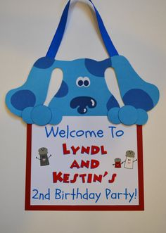Blues Clues Welcome Door Sign Puppy Party by GeminiCelebrations, $20.00