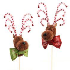 "NEW!~Raz Imports~15"" Christmas Reindeer On Stick Assorted~Tree/Wreath/Swag~Deer in Home & Garden, Holiday & Seasonal Décor, Christmas & Winter   eBay"