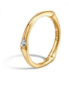 Engagement Rings Under $1,000 (Yes, Really!) for the One-of-a-Kind Bride | Bamboo 18K Diamond Band Ring, $795; johnhardy.com