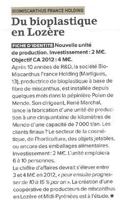 La lettre M - Biomiscanthus - 2012