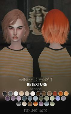 wingssims Short Hair Retexture for The Sims 4