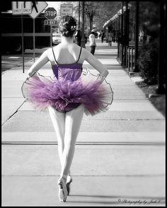 Bellissima Ballerina II - Photography by Judi V, via Flickr #selectivecolor