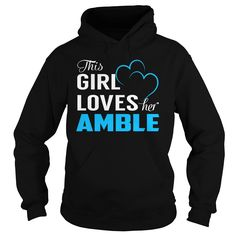 This Girl Loves Her AMBLE - Last Name, Surname T-Shirt