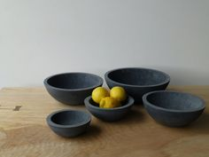 Concrete Bowl Set of 5 by ConcreteProject on Etsy