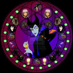 Maleficent stained glass by jeorje90 on DeviantArt
