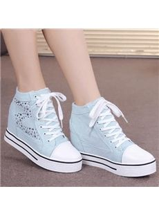 Casual Rhinestone Lace-Up Canvas Shoes White Converse, White Sneakers, Converse Shoes, High Top Sneakers, Prom Outfits, Prom Dresses, Wattpad, Prom Shoes, Fashion Flats