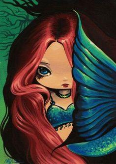 Art: Shy Little Mermaid by Artist Nico Niemi