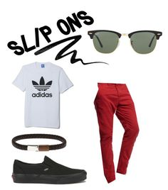 """""""Untitled #15"""" by claireblauvelt10 ❤ liked on Polyvore featuring Eyeko, Vans, Ray-Ban, Superdry, adidas, men's fashion, menswear and slipons"""