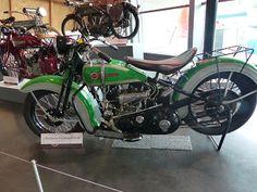OldMotoDude: 1936 Harley-Davidson VLH-80 on display at the LeMa...