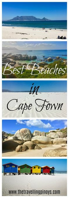 South Africa is the first country outside of Europe that has been awarded with Blue Flag status. So here's a guide for the best beaches in Cape Town. Africa Destinations, Travel Destinations, Clifton Beach, Chobe National Park, Boulder Beach, Le Cap, Les Continents, Beaches In The World, Africa Travel
