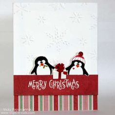 Project: Penguin Christmas Card Crafts Christmas card DIY Make your own handmade stamped