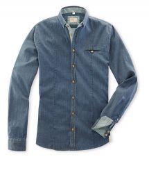 Q1 Hemd SANDRO in Denim-Stretch/Blue in Komfort Stretch Denim Button Up, Button Up Shirts, Sandro, Blue, Shopping, Tops, Fashion, Fall Winter, Moda