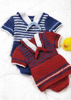 conjuntos marinheiros bébé em crochet