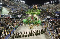 Samba School Parade in Sambadrome - Rio de Janeiro, Brazil / Beijaflor-2016