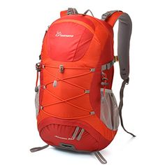 Mountaintop Outdoor Cycling Hiking Daypack Climbing Camping Mountaineering Backpack 30l Red -- To view further for this item, visit the image link.