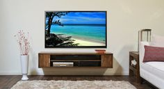 Modern Wall Mount Floating TV Stand Terra Mar by WoodwavesInc