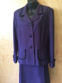 Leslie Fay  2piece Suit Jacket & Skirt Size 14 Women  #LeslieFay #2Piece
