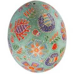 doesn't look like a traditional   pysanka, but a lovely design...