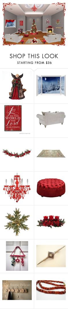 """""""Shopping for Christmas? ... Try these Lovely Shops"""" by cozeequilts ❤ liked on Polyvore featuring Roman, Nearly Natural, Moe's, National Tree Company and rustic"""
