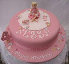 LITTLE GIRL BIRTHDAY CAKES IMAGES | Little girls pink Fairy Birthday Cake | Flickr - Photo Sharing!