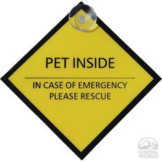 """""""Rescue Pet"""" Sign - Intersource D08-180 - Safety - Camping World"""