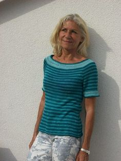 "Пуловер ""Havannah"" by Heidemarie Kaiser спицами Knitting Kits, Sweater Knitting Patterns, Knit Patterns, Free Knitting, Free Pattern Download, Lion Brand Wool Ease, Summer Knitting, Raglan, Crafts"