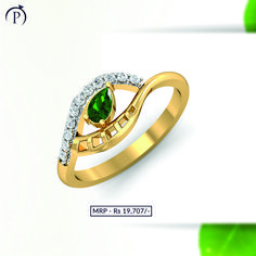 Inspired from the looks of your lovely eyes this eye shaped ring with green drop at its core and dimaond and gold encircling in from alternative sides, can make anyone go gree with jealous Diamond Jewelry, Gold Jewelry, Fine Jewelry, Jewellery, Lovely Eyes, Diamonds And Gold, Eye Shapes, Dream Ring, Go Green