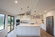 White kitchen combining contemporary and traditional features. Custom designed and made in Auckland New Zealand by LaBella Kitchens. Auckland New Zealand, Custom Design, Kitchens, Traditional, Contemporary, Home Decor, Decoration Home, Room Decor, Kitchen