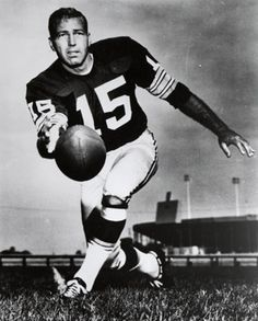 """BART STARR:  quarterback at Sidney Lanier High School in Montgomery, AL, --coached by Wm G. """"Bill"""" Moseley Sr.  Bart briefly considered attending college at the University of KY but ultimately chose his home state and the University of Alabama.  In 1956, he was recruited by the Green Bay Packers in the 17th round of the NFL Draft.  He signed for $6,500 -with $1,000 up front.  He last played for the Packers in 1971."""