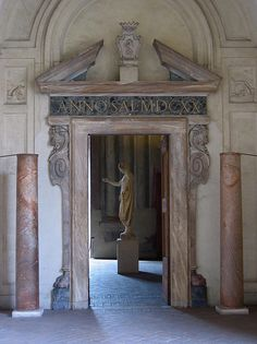 Doorway at the Palazzo Altemps, Rome. Check out our latest post about Rome: http://openupnow.net/2014/05/04/dolce-vita-in-rome/