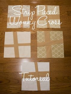Strip Pieced Wonky Star Tutorial - would make it less wonky