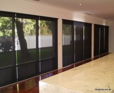 bifold doors & large glass areas can be hard to shade, Deans have specific fabrics to keep out the heat & glare while keeping you view outside